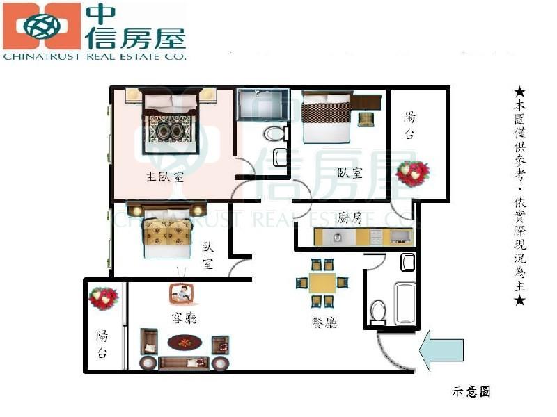 買屋賣屋租屋中信房屋-b-56麗寶世紀館